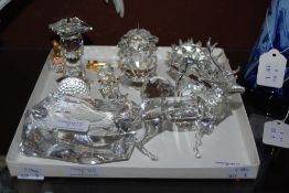 COLLECTION OF ASSORTED CRYSTAL ANIMAL FIGURES