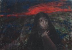 AR Leszek Muszynski (Polish 1923-2012) Good Friday pastel, signed and dated '78 lower left 20.5cm