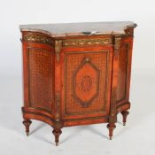 A late 19th/early 20th century French Louis XVI style kingwood, marquetry and gilt metal mounted
