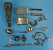 Collection of silver & white metal collectables
