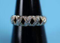 Gold & diamond set ring