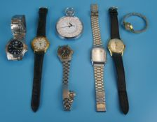Collection of gents watches to include Bentima