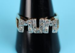 Gold & diamond set Mum ring