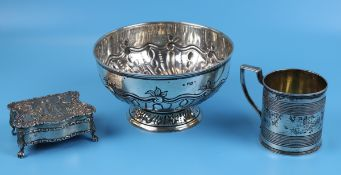 3 pieces of early hallmarked silver - Gross approx weight - Approx weight: 665g