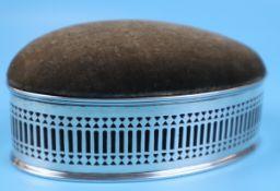 Silver hallmarked pin cushion - Chester 1903 Stokes and Ireland