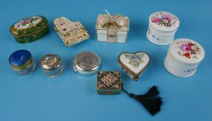 Collection of pill boxes