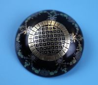 Antique gold set pique brooch