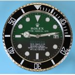 Reproduction Rolex advertising clock with sweeping second hand - James Cameron Sea Dweller