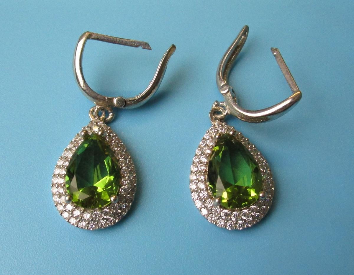 Silver topaz set earrings, pendant & ring - Image 2 of 5