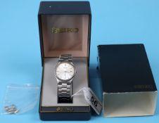 Boxed Seiko watch