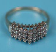 Unusual gold diamond set ring