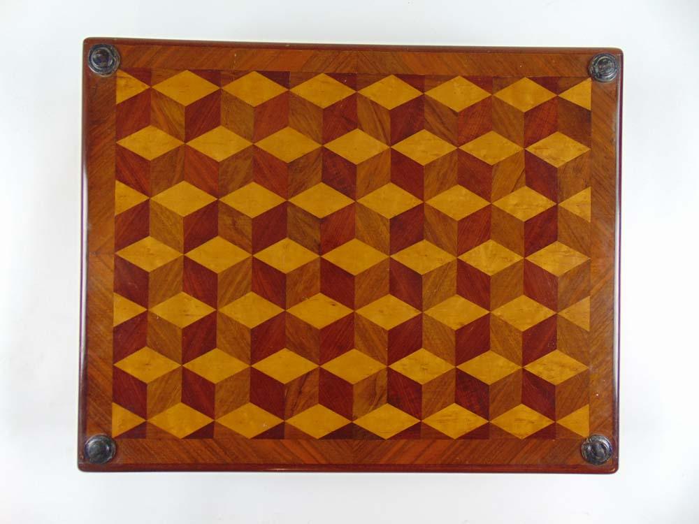 Lot 86 - A modern mahogany, walnut and birdseye m