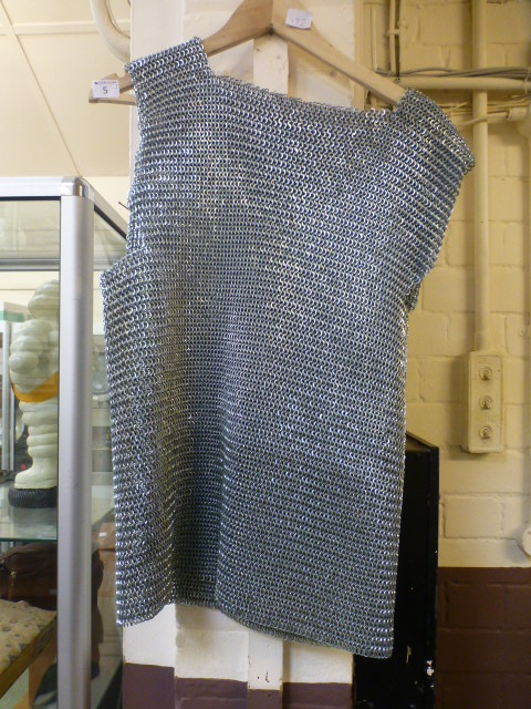 Lot 5 - A chain mail sleeveless shirt