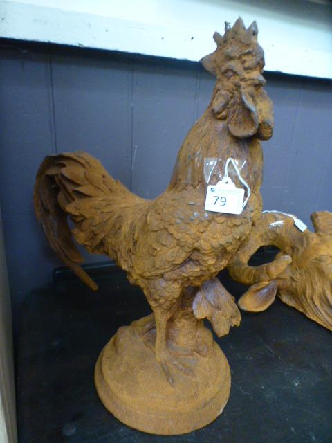 Lot 79 - A cast cockerel
