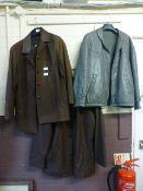 Three leather jackets