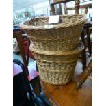 Two donkey pannier log baskets