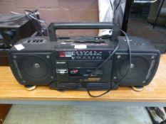 A Sharp stereo radio cassette recorder