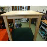 A modern beech dining table