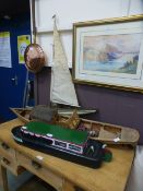 Three hand crafted sailing vessels