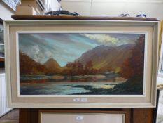 Arthur T Blamires (b. 1930), A river lan