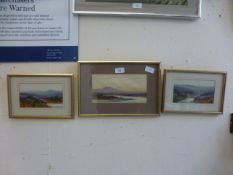 Three framed and glazed watercolours of