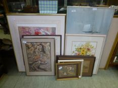 A selection of framed and glazed prints,