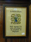 A framed and glazed French school print