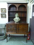 A late 19th century rosewood dresser