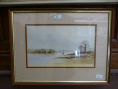 A framed and glazed watercolour of saili