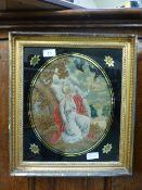 A gilt framed and glazed early 19th cent