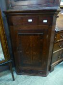 An 18th century oak and rosewood banded