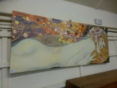 A reproduction stretched canvas after Kl