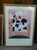 A framed and glazed print titled 'Roy Ro