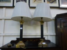 A pair of reproduction Corinthian column