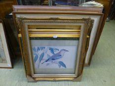 A quantity of framed and glazed prints o
