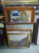A quantity of framed and unframed oils,