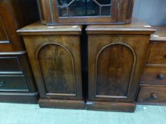 A pair of 19th century pot cupboards (A/