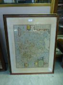 Two framed and glazed maps after Saxton
