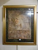 A framed and glazed Egyptian style print