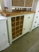 Hampshire Ivory Painted Oak Small Sideboard Wine Rack (33.
