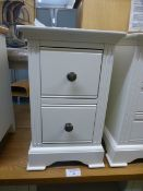 Banbury White Painted Small Bedside Table (21.