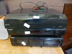 Sony hi-fi separates to include tape deck,
