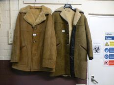 Two sheepskin coats