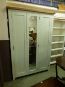 Hampshire Ivory Painted Oak Full Hanging Triple Wardrobe (12.