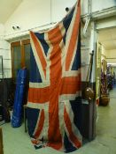 A large Union Jack flag