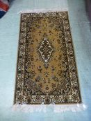A modern Belgian Persian style brown ground rug,
