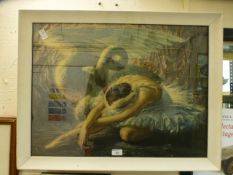 A framed and glazed print ' The Dying Swan' by Tretchikoff
