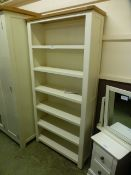 Portland White Bookcase (14.