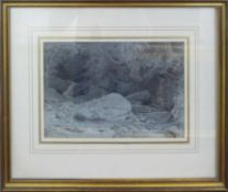 EDWARD SWINBURNE (British 1765-1847) 'River Landscape Study', ink and wash drawing,