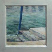 DAPHNE CLARKE (Contemporary American) 'Gondola Pole in Venice', oil on board, signed lower left,